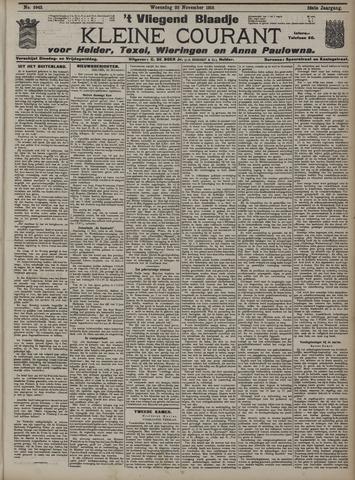 Vliegend blaadje : nieuws- en advertentiebode voor Den Helder 1910-11-23