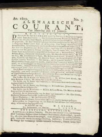 Alkmaarsche Courant 1803-01-17