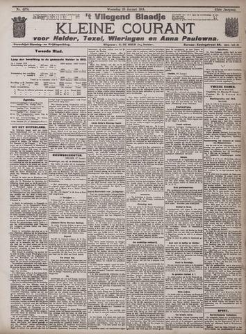 Vliegend blaadje : nieuws- en advertentiebode voor Den Helder 1914-01-28