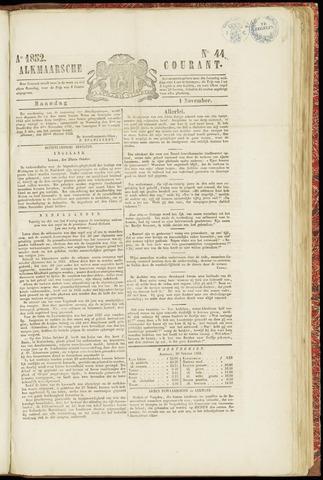 Alkmaarsche Courant 1852-11-01