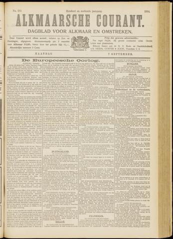 Alkmaarsche Courant 1914-09-07