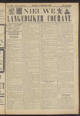Nieuwe Langedijker Courant 1922-12-19