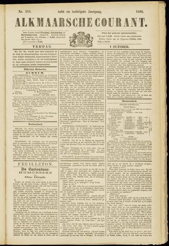 Alkmaarsche Courant 1886-10-01