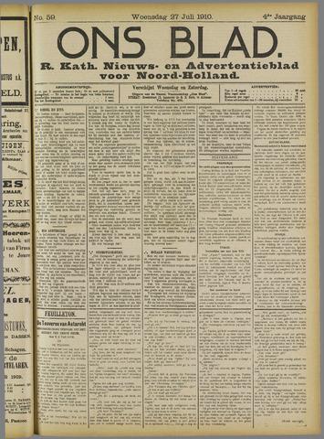 Ons Blad : katholiek nieuwsblad voor N-H 1910-07-27
