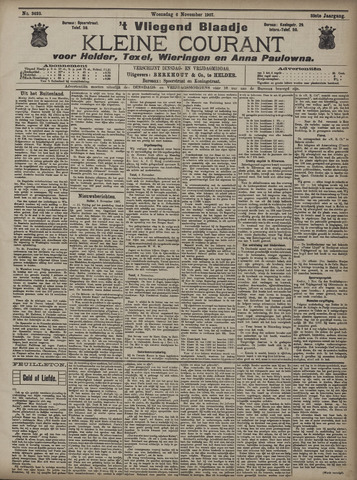 Vliegend blaadje : nieuws- en advertentiebode voor Den Helder 1907-11-06