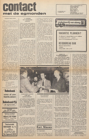 Contact met de Egmonden 1975-01-15