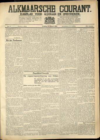 Alkmaarsche Courant 1933-03-24