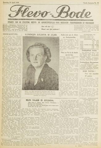Flevo-bode: nieuwsblad voor Wieringen-Wieringermeer 1949-04-30