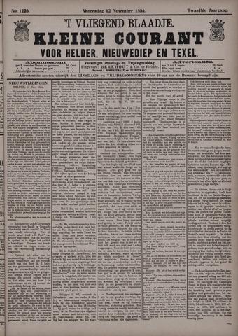 Vliegend blaadje : nieuws- en advertentiebode voor Den Helder 1884-11-12