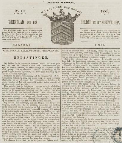 Weekblad van Den Helder en het Nieuwediep 1851-05-05