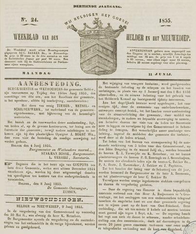 Weekblad van Den Helder en het Nieuwediep 1855-06-11