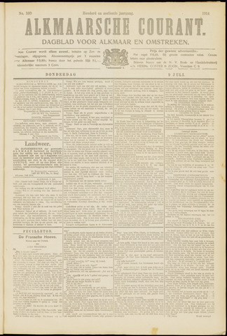 Alkmaarsche Courant 1914-07-09