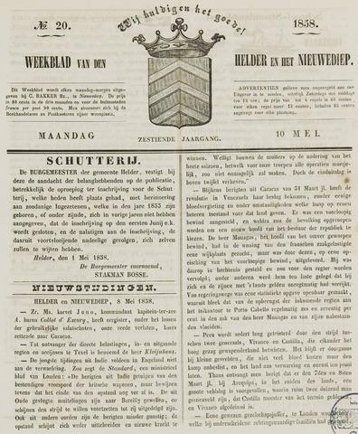 Weekblad van Den Helder en het Nieuwediep 1858-05-10