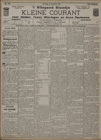 Vliegend blaadje : nieuws- en advertentiebode voor Den Helder 1908-12-19