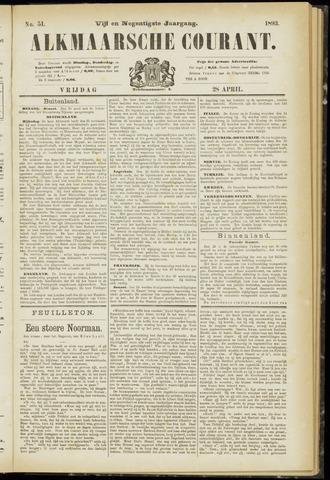 Alkmaarsche Courant 1893-04-28