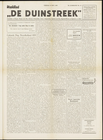 De Duinstreek 1955-11-18