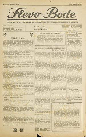 Flevo-bode: nieuwsblad voor Wieringen-Wieringermeer 1945-12-31