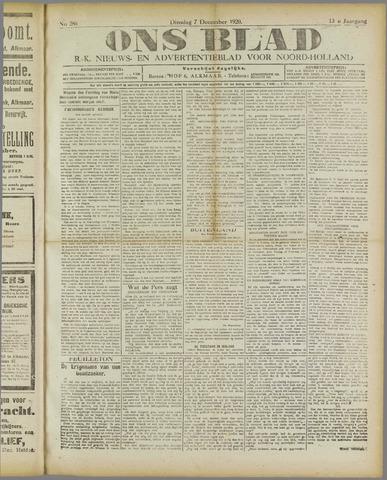 Ons Blad : katholiek nieuwsblad voor N-H 1920-12-07