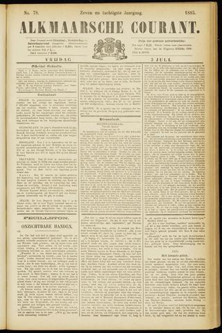 Alkmaarsche Courant 1885-07-03