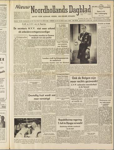 Nieuw Noordhollandsch Dagblad : voor Alkmaar en omgeving 1949-06-28