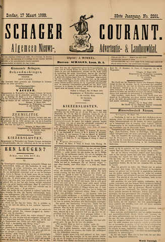 Schager Courant 1889-03-17