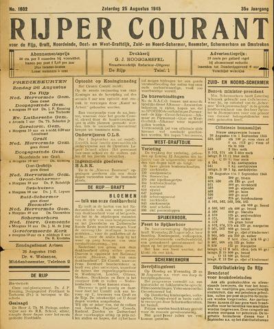 Rijper Courant 1945-08-25