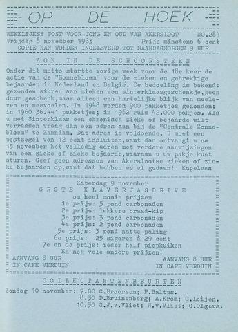 Op De Hoek, weekblad voor Akersloot 1963-11-08