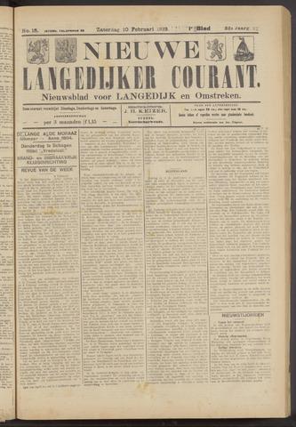 Nieuwe Langedijker Courant 1923-02-10