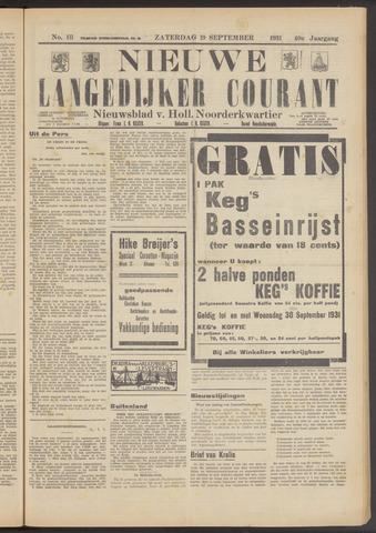 Nieuwe Langedijker Courant 1931-09-19