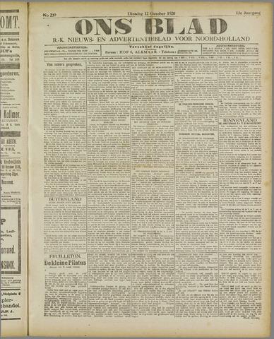 Ons Blad : katholiek nieuwsblad voor N-H 1920-10-12