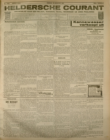 Heldersche Courant 1931-08-18