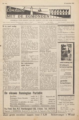 Contact met de Egmonden 1962-09-20