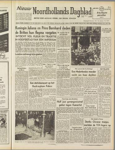 Nieuw Noordhollandsch Dagblad : voor Alkmaar en omgeving 1950-11-22