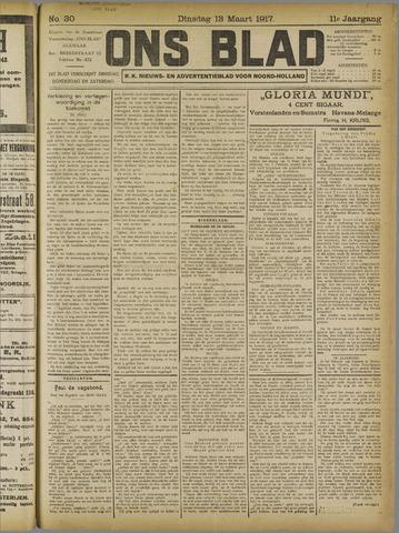 Ons Blad : katholiek nieuwsblad voor N-H 1917-03-13