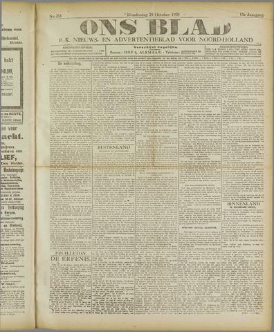 Ons Blad : katholiek nieuwsblad voor N-H 1920-10-28