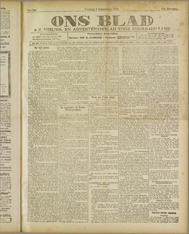 Ons Blad : katholiek nieuwsblad voor N-H 1920-09-03
