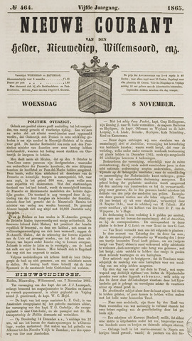 Nieuwe Courant van Den Helder 1865-11-08