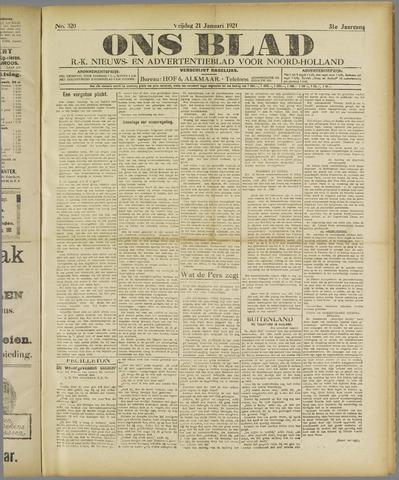 Ons Blad : katholiek nieuwsblad voor N-H 1921-01-21
