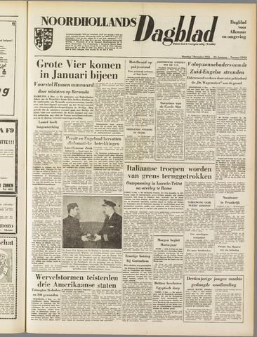 Noordhollands Dagblad : dagblad voor Alkmaar en omgeving 1953-12-07