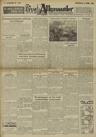 De Vrije Alkmaarder 1949-02-23