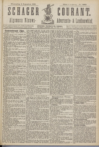 Schager Courant 1920-08-04