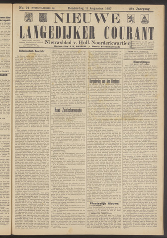 Nieuwe Langedijker Courant 1927-08-11