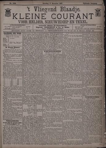 Vliegend blaadje : nieuws- en advertentiebode voor Den Helder 1887-12-17