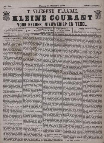 Vliegend blaadje : nieuws- en advertentiebode voor Den Helder 1880-12-21
