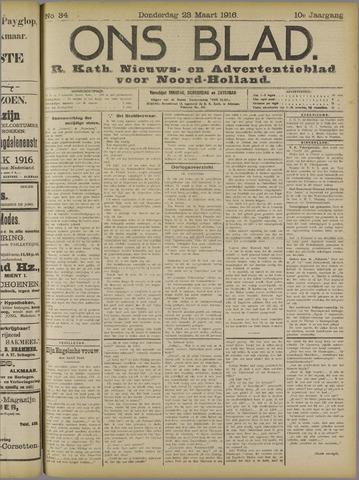 Ons Blad : katholiek nieuwsblad voor N-H 1916-03-23