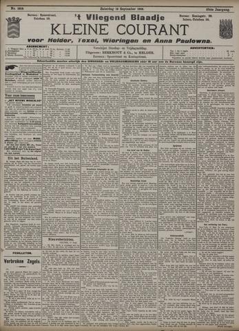 Vliegend blaadje : nieuws- en advertentiebode voor Den Helder 1909-09-18