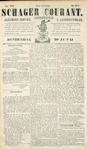 Schager Courant 1881-06-30