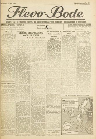 Flevo-bode: nieuwsblad voor Wieringen-Wieringermeer 1947-07-23