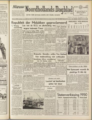 Nieuw Noordhollandsch Dagblad : voor Alkmaar en omgeving 1950-04-27