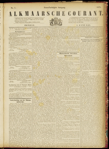 Alkmaarsche Courant 1879-01-05